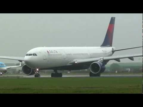 Delta - A330-300 - Takeoff from Amsterdam