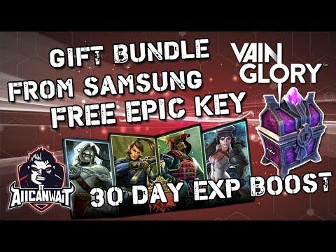 Vainglory Free Epic Key + 2 Skins + 2 Hero + 30 Day XP Bonus Samsung Gift Bundle