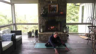 Fireside Yoga to warm your body!