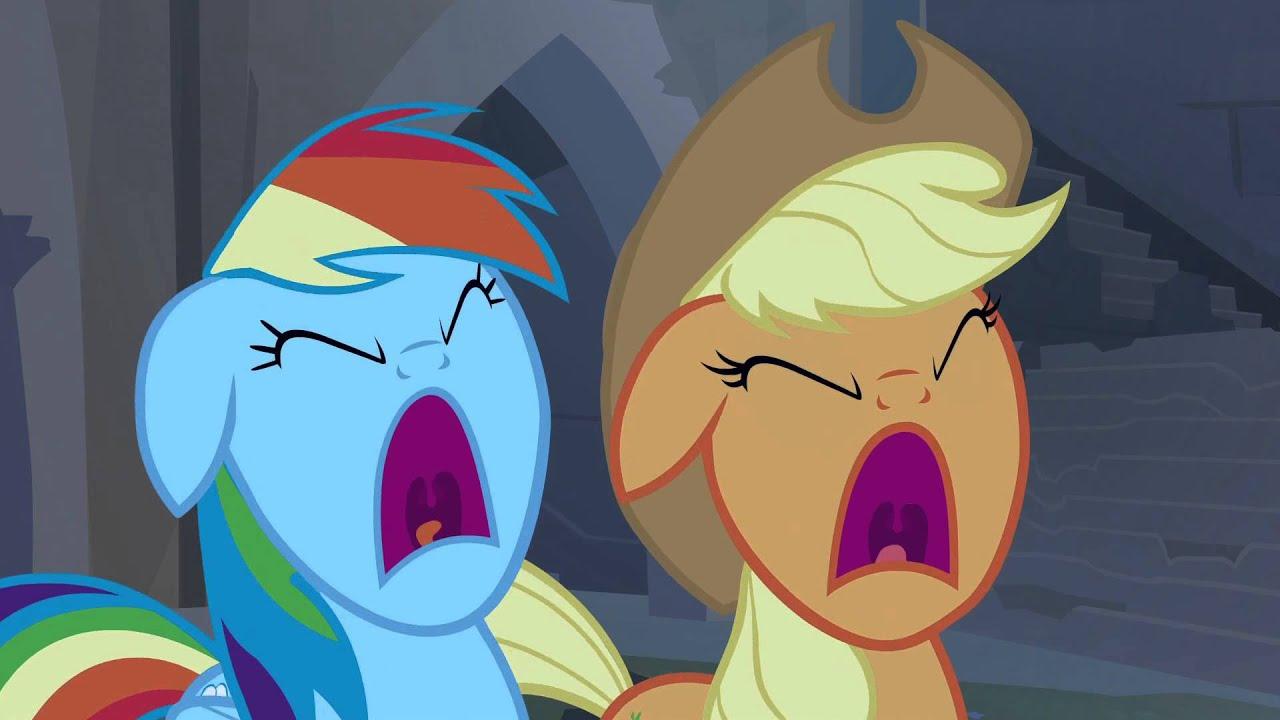 Applejack Amp Rainbow Dash Screaming Together Youtube
