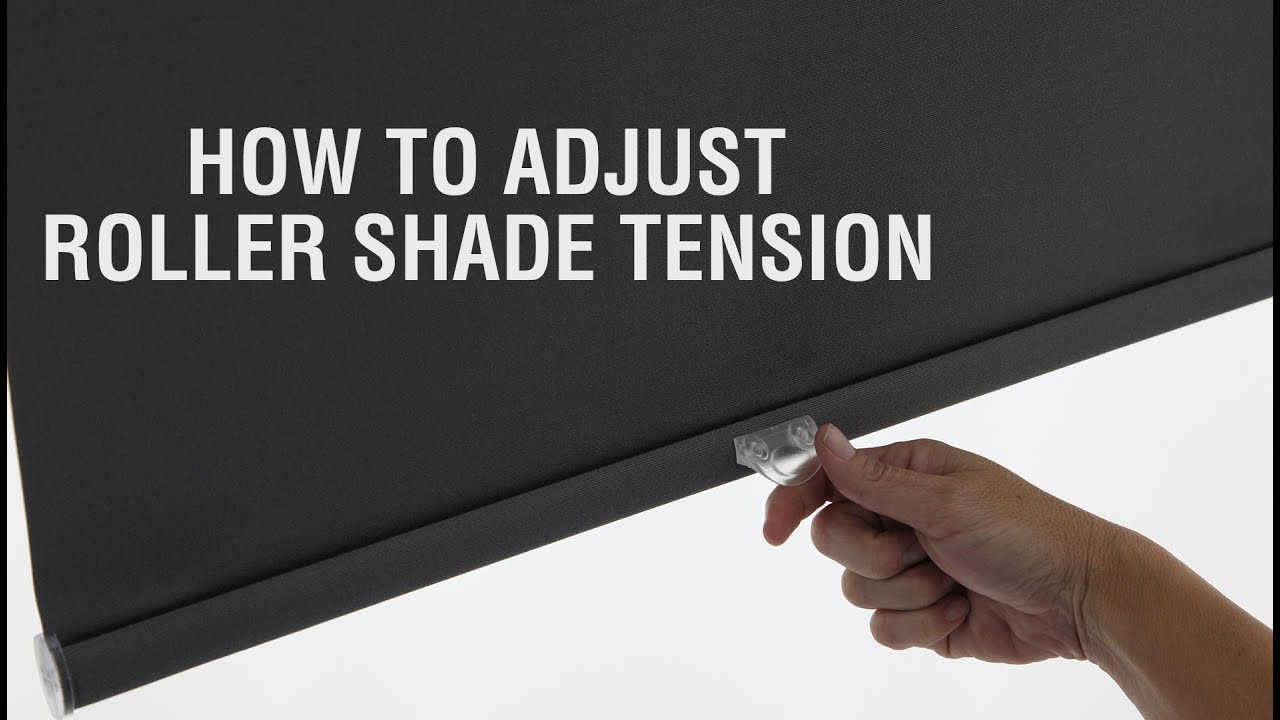 How to fix springs in roller shades and adjust spring tension - How To Adjust Roller Shade Tension