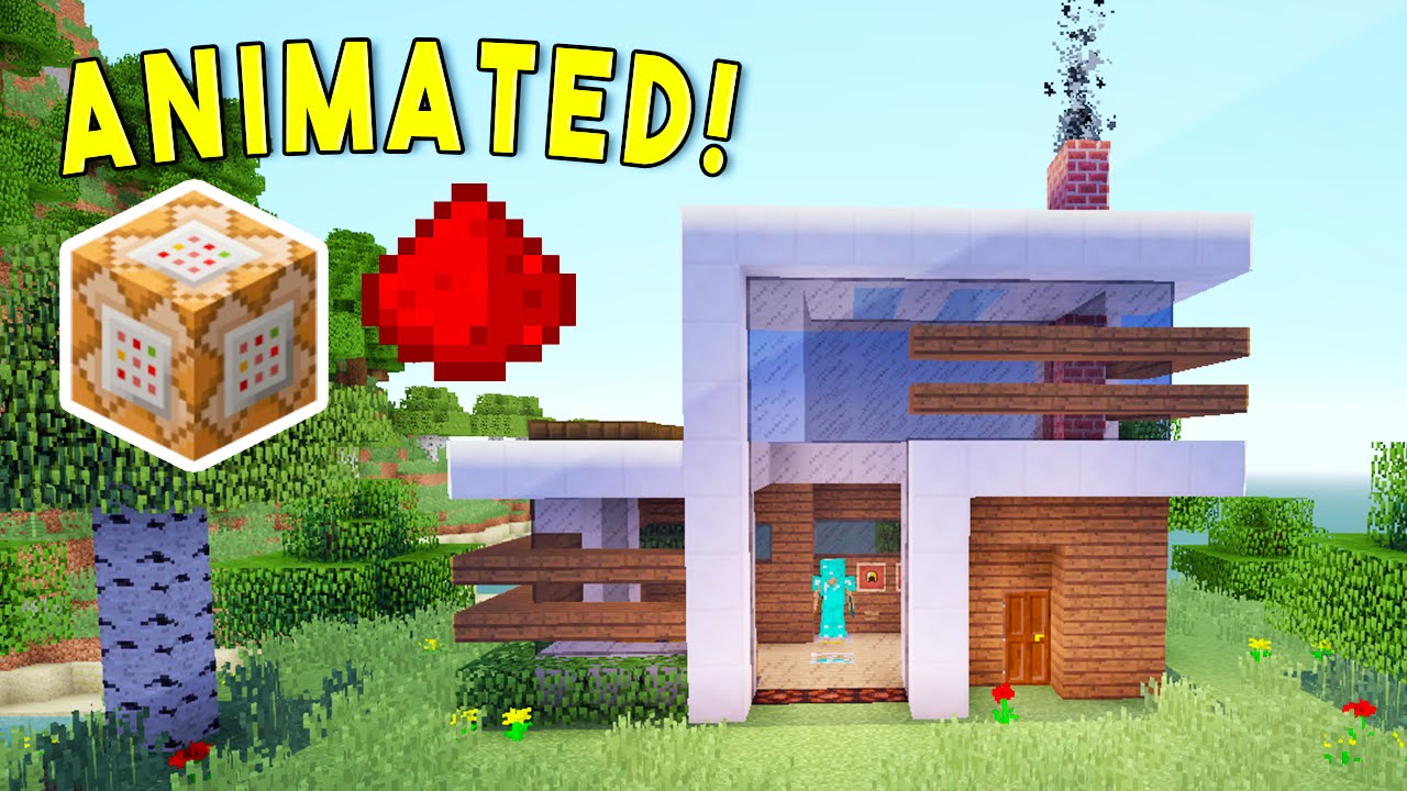 ANIMATED Self Building Redstone House