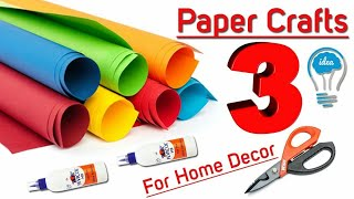 3 Wall Decor Ideas With Papers // Diy Home Decoration Ideas // Handmade Project