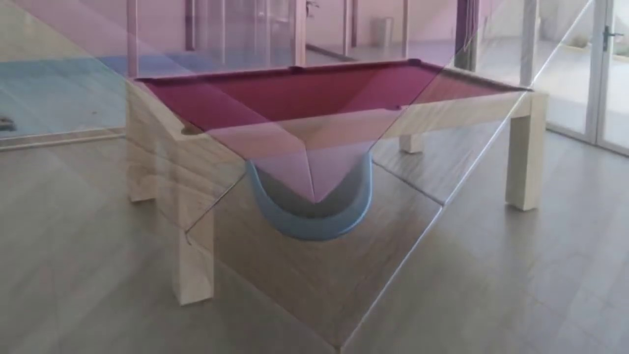 Mesas de billar convertibles en mesa de for Mesas ovaladas para comedor