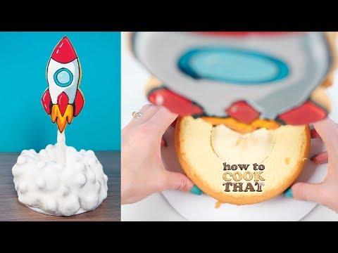 Rocket Ship Cake How To Cook That Ann Reardon