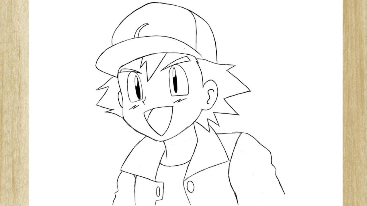 Como Desenhar O Ash Ketchum De Pokemon How To Draw Ash Ketchum