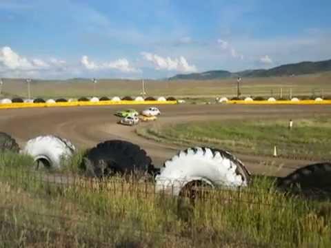 Hayden Speedway 7-12-14 Mini Stock Heat #2