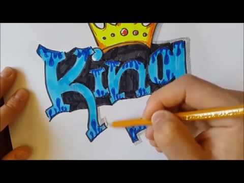 How to draw a Graffiti   King
