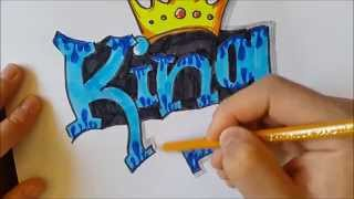 How to draw a Graffiti | King