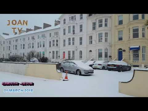 SNOW IN EXMOUTH   DEVON