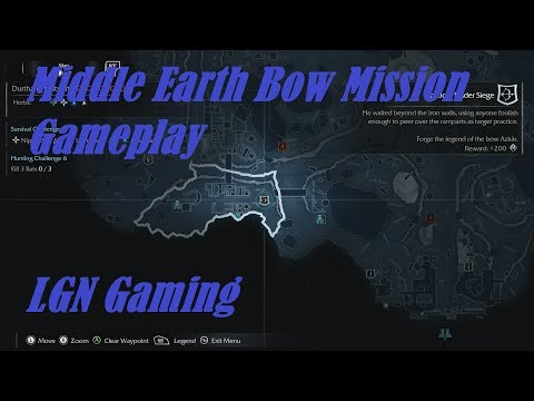 Middle Earth Shadow of Mordor Bow Mission Gameplay |