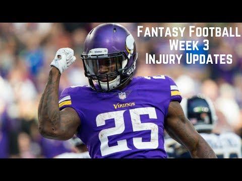 Fantasy Football - Week 3 Injury Updates