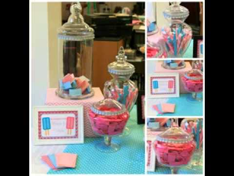 Diy unique baby shower decorating ideas for twins youtube for Baby shower decoration twins