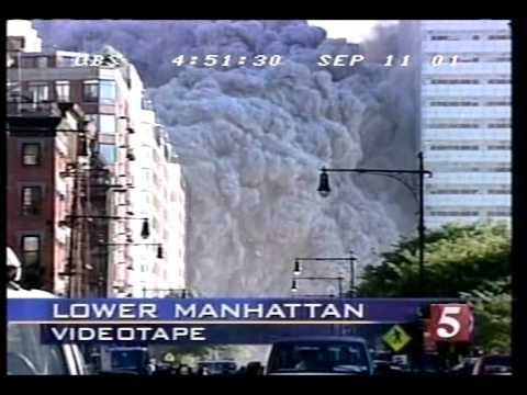 9/11: WTC 7 Collapse & Dust Cloud (CBS)