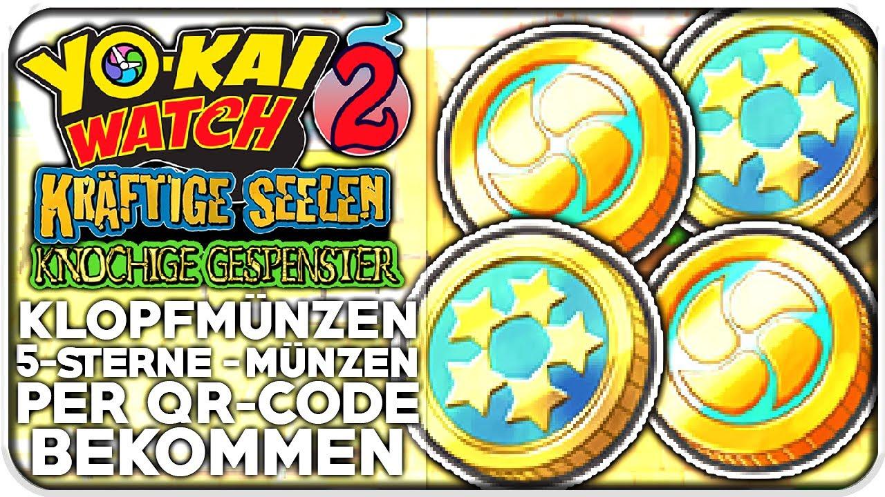 Qr Codes Für 5 Sterne Münzen Klopf Münzen Yo Kai Watch 2 Youtube