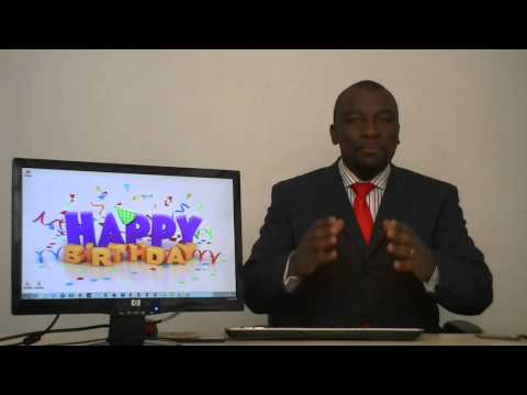 Tyrone Broadcasts Amanda's Birthday Greetings From Mama Africa