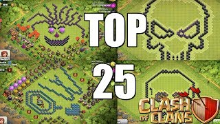 Clash of Clans - Top 25 SCARY Base Design Compilation