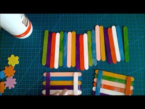 Mini Scatola Con Stecche Di Legno Youtube