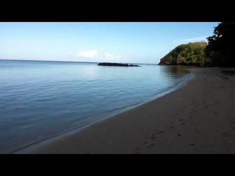Dawn camping on a Fiji Beach