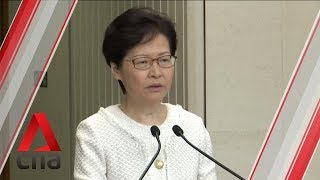 "Foreign interference into Hong Kong's internal affairs ""totally unnecessary"": Carrie Lam"