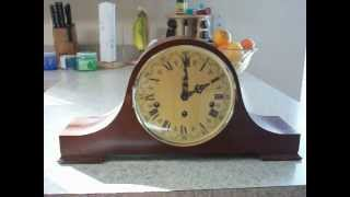 Haid Vintage Triple Chime Tambour Mantel Clock