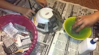 Тарелка из папье маше своими руками