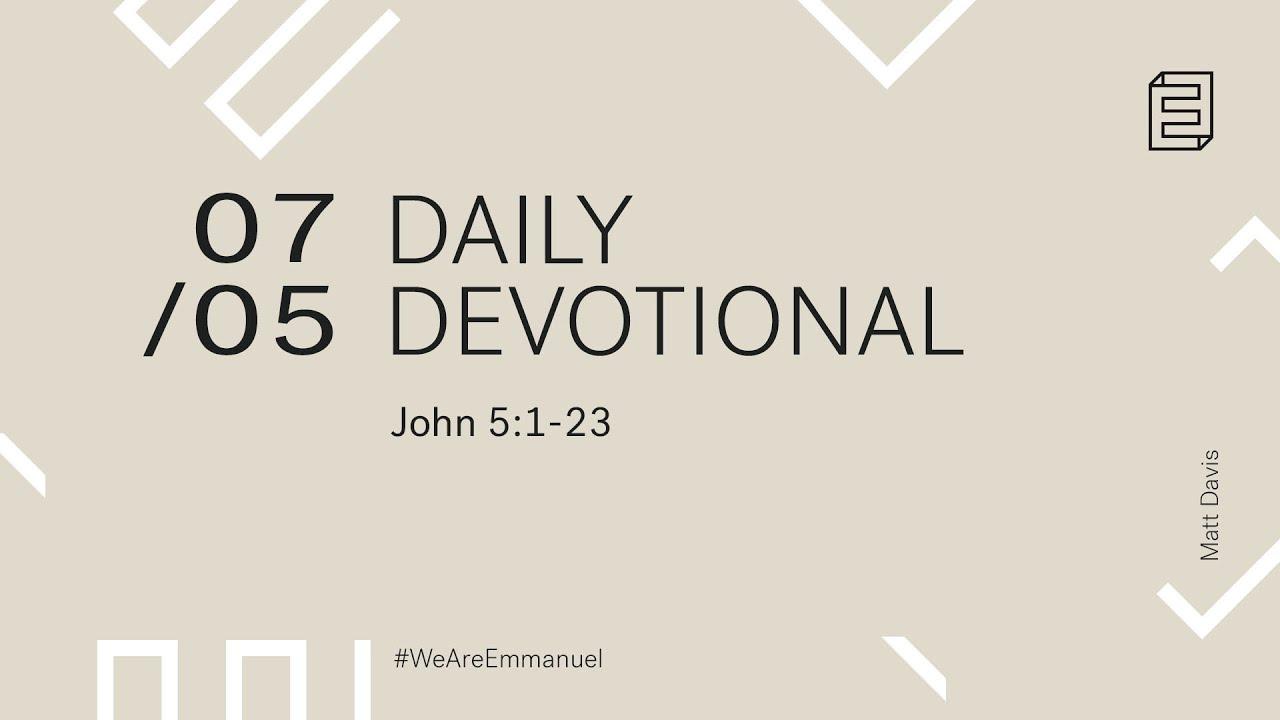 Daily Devotion with Matt Davis // John 5:1-23 Cover Image
