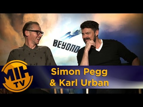 Simon Pegg & Karl Urban interview Star Trek Beyond