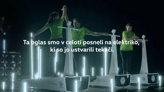Volkswagen: TV oglas posnet na elektriko tekačev
