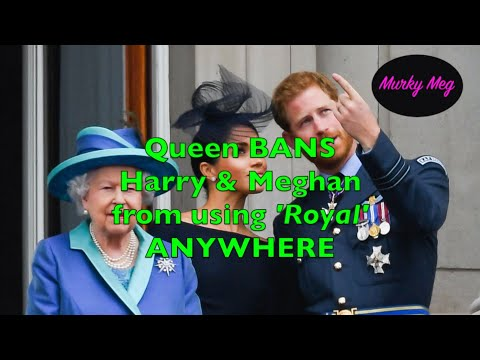 The Queen BANS Unlawful Use Of Sussex 'Royal' Brand