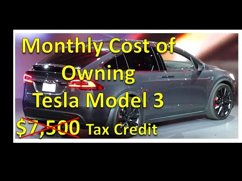 Monthly Cost of Owning a Tesla Model 3 V#15