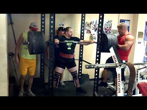 Justin Bethune RAW squat 675 @242