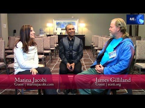 AAE tv | At The Awake And Empowered Expo! | James Gilliland | Marina Jacobi | 4.9.16