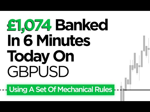 Download Day Trading GBPUSD: £1,074 Banked In 6 Minutes (Using A Set Of Mechanical Rules)