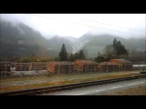 Shinano Wide View Train Route Nagoya to Matsumoto