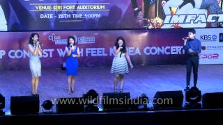 Kolkata based SoundWave4 band sings Korean song at K Pop contest