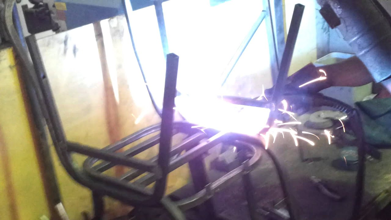Chair welding with two legs step 3