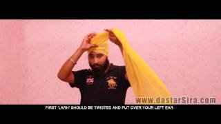 Repeat youtube video How to tie Dumala | Learn Online Dumala | Dumalla | ਦੁਮਾਲਾ ਸਜਾਉਣਾ ਸਿਖੋ | HD