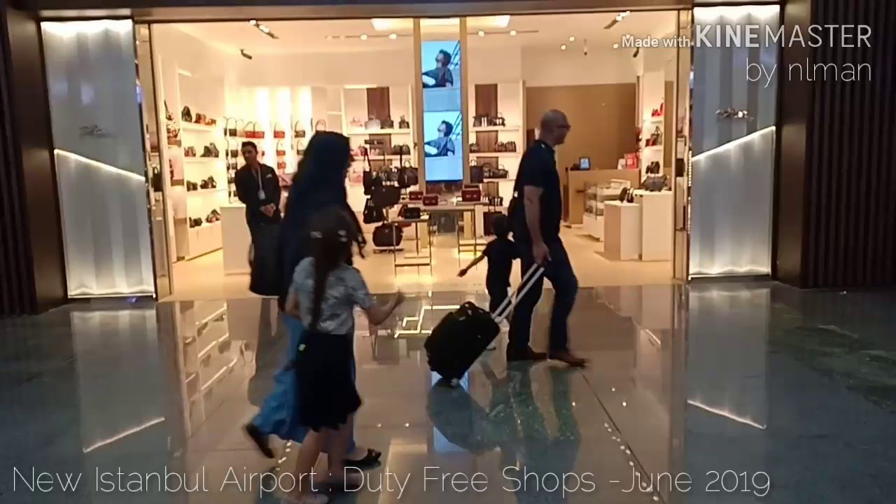 ISTANBUL NEW AIRPORT : DUTY FREE SHOPS TOUR - JUNE 2019
