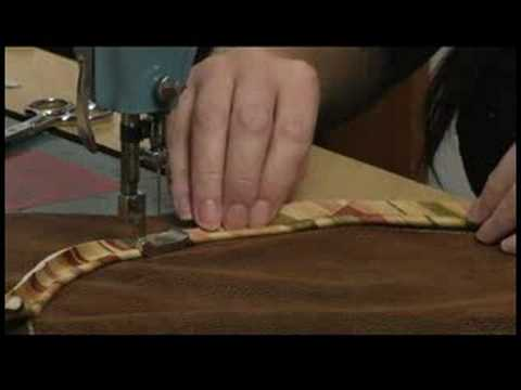 Sewing a Round Pillow With Piping : Sew Piping to Round Pillow Fabric