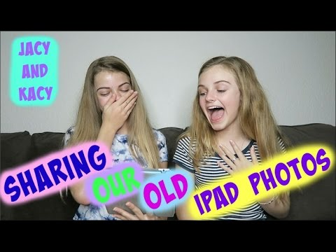 Sharing & Reacting to Our Old iPad Photos ~ Jacy and Kacy