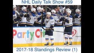 NHL Daily Talk Show #59 2017-18 Standings Review (1)