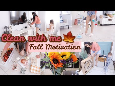 CLEAN AND DECORATE WITH ME 2019 Fall Decorate Ideas and Cleaning Motivation