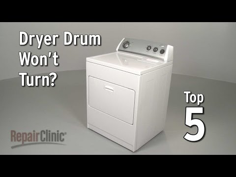 "Thumbnail for video ""Dryer Drum Won't Turn? Electric Dryer Troubleshooting"""