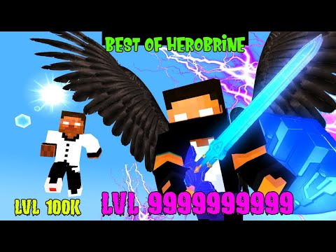 BEST OF LEGENDARY HEROBRINE LEVEL 9999999999   Monster School   Minecraft Animation