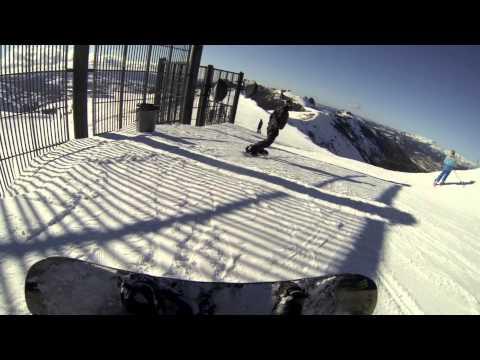 Snowboarding The Wall at Kirkwood