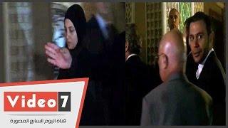 محمد إمام ورامز جلال وحنان ترك ومصطفى شعبان بعزاء الساحر