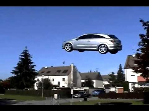 Voiture Volante Opel Astra Youtube