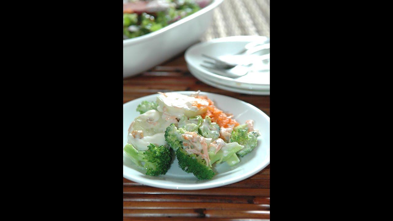 Ensalada de br coli zanahoria y pepino receta f cil de - Ensalada de apio y zanahoria ...