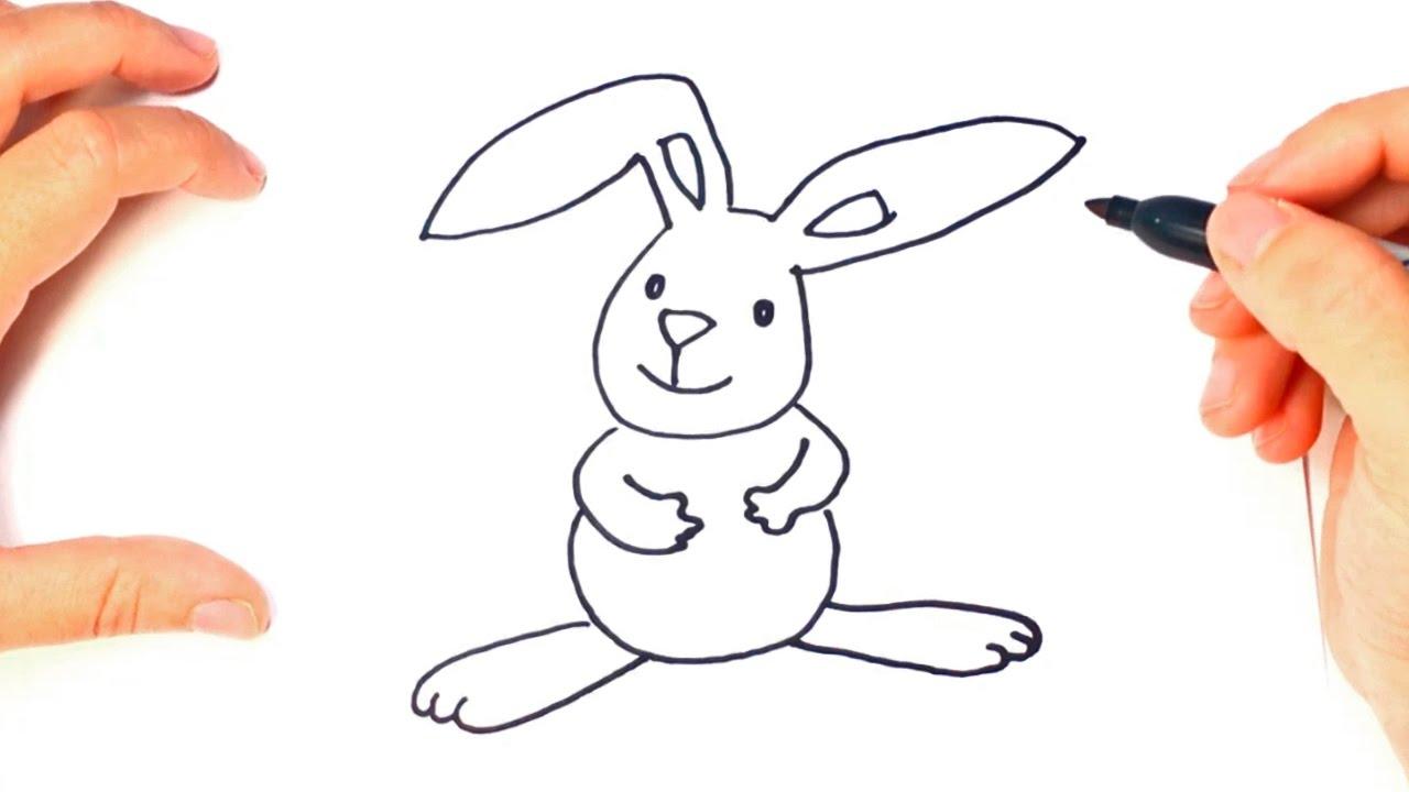 Como dibujar un conejito paso a paso dibujo facil de for Silla facil de dibujar